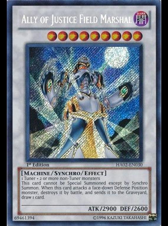 Ally of Justice Field Marshal - HA02-EN030 - Secret Rare