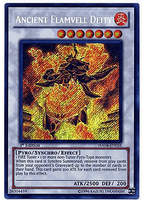 Ancient Flamvell Deity - HA04-EN056 - Secret Rare