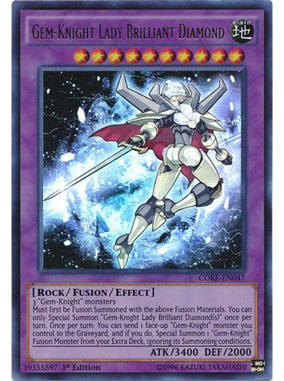 Gem-Knight Lady Brilliant Diamond - CORE-EN047 - Ultra Rare
