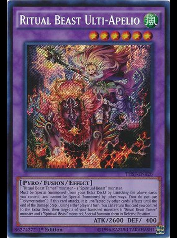 Ritual Beast Ulti-Apelio - THSF-EN028 - Secret Rare