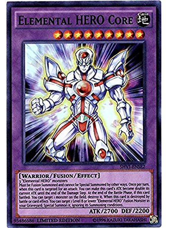 Elemental Hero Core - SHVI-ENSE2 - Super Rare Limited Edition