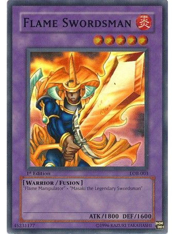 Flame Swordsman - LOB-003 - Super Rare