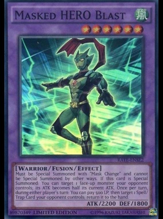 Masked HERO Blast - RATE-ENSE2 - Super Rare Limited Edition