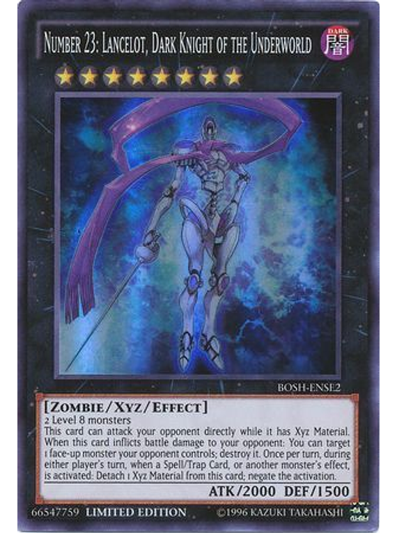 Number 23: Lancelot, Dark Knight of the Underworld - BOSH-ENSE2 - Super Rare Limited