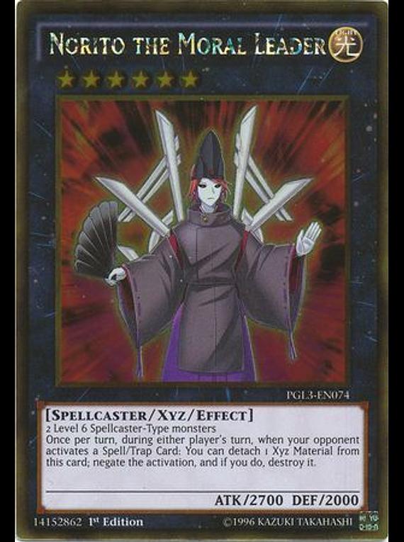 Norito the Moral Leader - PGL3-EN074 - Gold Rare