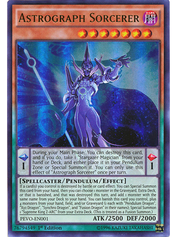 Astrograph Sorcerer - PEVO-EN001 - Ultra Rare