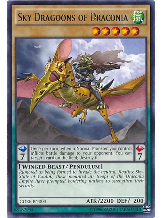 Sky Dragoons of Draconia- CORE-ENSP1- Ultra Rare Limited  (español)