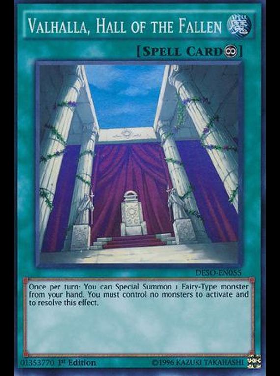 Valhalla, Hall of the Fallen - DESO-EN055 - Super Rare