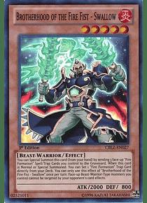 Brotherhood of the Fire Fist - Swallow - CBLZ-EN027 - Super Rare