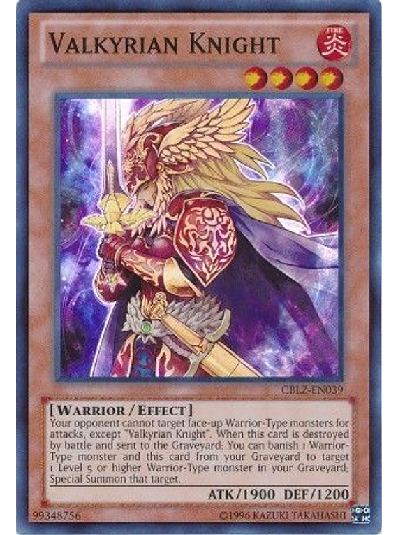 Valkyrian Knight - CBLZ-EN039 - Super Rare