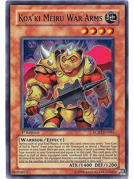 Koa'ki Meiru War Arms - RGBT-EN081 - Super Rare
