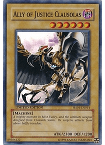 Ally of Justice Clausolas - HA01-EN014 - Super Rare