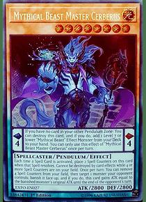 Mythical Beast Master Cerberus - EXFO-EN027 - Secret Rare