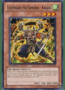 Legendary Six Samurai - Kageki - STOR-EN022 - Rare