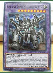 Ancient Gear Megaton Golem - LED2-EN031 - Super Rare