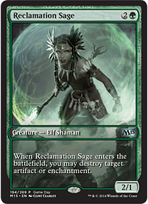 Reclamation Sage (Magic 2015 Game Day) (Full-Art)
