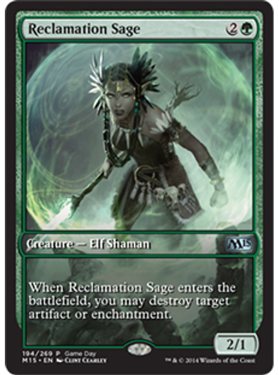 Reclamation Sage (Magic 2015 Game Day) (Full-Art)