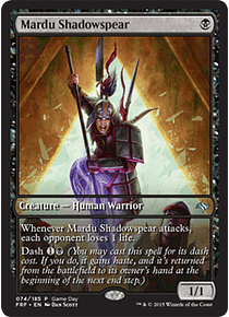 Mardu Shadowspear (Fate Reforged Game Day) (Full-Art)