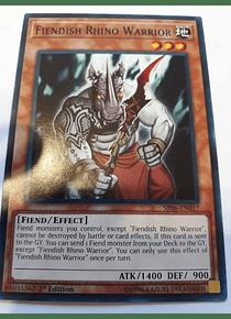 Fiendish Rhino Warrior - SR06-EN017 - Common