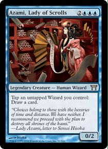 Azami, Lady of Scrolls - COK - R  (desgastada)