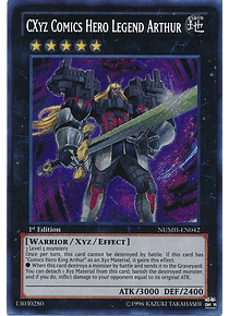 CXyz Comics Hero Legend Arthur - NUMH-EN042 - Secret Rare
