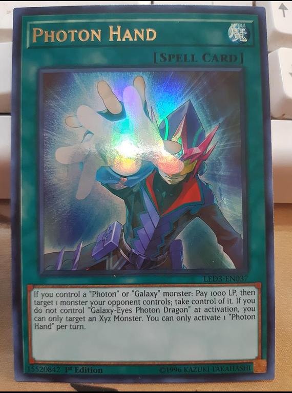 Yugioh LED3-EN037 Photon Hand Ultra Rare 1st Edition NM