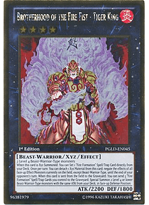 Brotherhood of the Fire Fist - Tiger King - PGLD-EN045 - Gold Rare