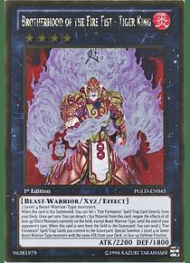 Brotherhood of the Fire Fist - Tiger King - PGLD-EN045 - Gold Rare