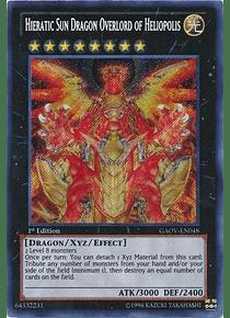 Hieratic Sun Dragon Overlord of Heliopolis - GAOV-EN048 - Secret Rare (esquina maltratada)