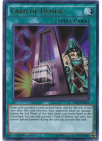 Card of Demise - MIL1-EN014 - Ultra Rare (español)