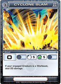 Cyclone Slam - Super rare - Foil