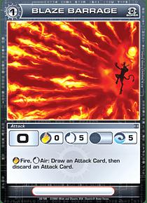 Blaze Barrage - Super Rare - Foil