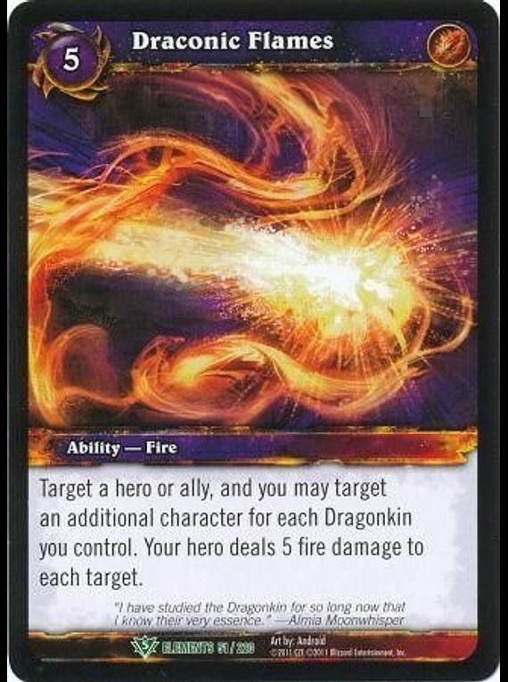 Draconic Flames - 51/220 - Uncommon