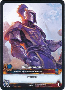 Human Warrior Token - War of the Ancients