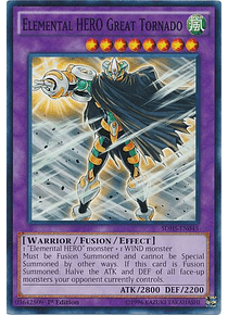 Elemental Hero Great Tornado - SDHS-EN045 - Common