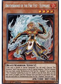 Brotherhood of the Fire Fist - Elephant - FIGA-EN012 - Secret Rare