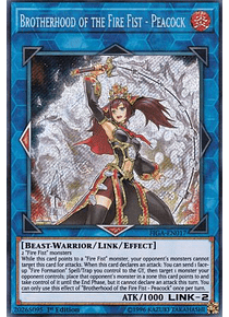 Brotherhood of the Fire Fist - Peacock - FIGA-EN017 - Secret Rare