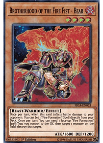 Brotherhood of the Fire Fist - Bear - FIGA-EN023 - Super Rare