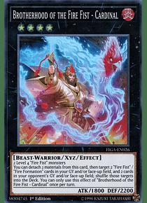 Brotherhood of the Fire Fist - Cardinal - FIGA-EN026 - Super Rare