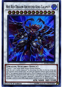 Hot Red Dragon Archfiend King Calamity - DUPO-EN059 - Ultra Rare