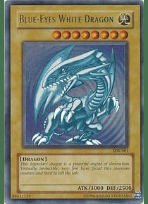 Blue-Eyes White Dragon - SDK-001 - Ultra Rare Unlimited (dañado)