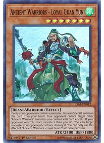 Ancient Warriors - Loyal Guan Yun - IGAS-EN012 - Super Rare