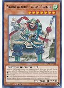 Ancient Warriors - Valiant Zhang De - IGAS-EN013 - Rare