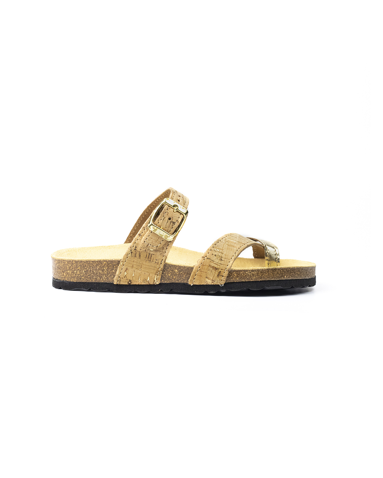 Chinelo DuoTypus Natur/ouro
