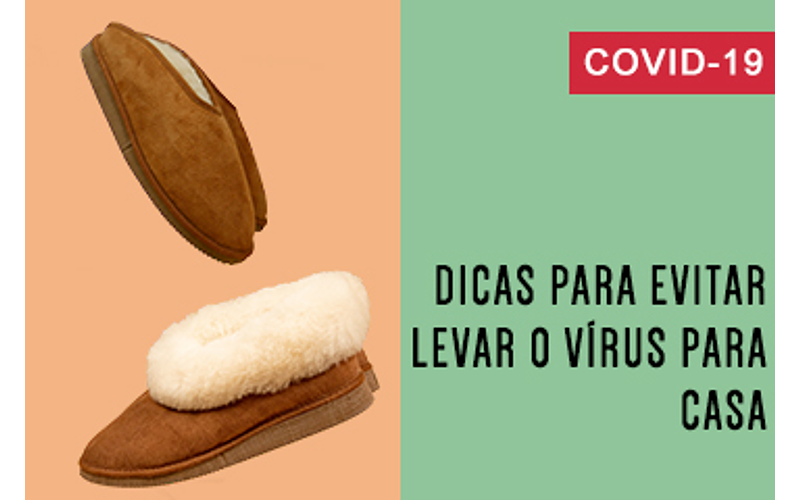 How to wear slippers to avoid taking the virus home