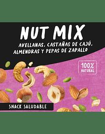 Nut Mix de Avellanas, Castañas de Cajú, Almendras y Pepas de Zapallo 70 grs