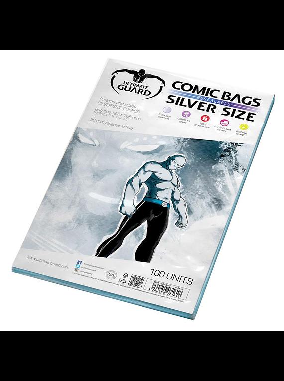 Fundas Ultimate Guard - Tamaño Silver resealable