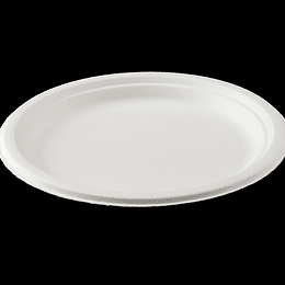 PLATO BIODEGRADABLE 9´´ 23 CM 50 UN