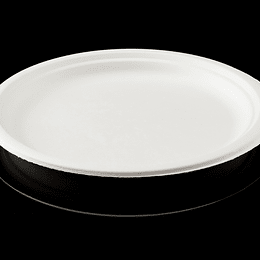 PLATO BIODEGRADABLE 10´´ 25CM 50 UN
