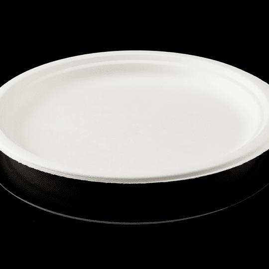 PLATO BIODEGRADABLE 10´´ 25CM 50 UN